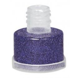Purpurina lila suelta grimas con aplicador facil