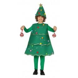 Disfraz arbol de navidad con luz nino tallas infantil
