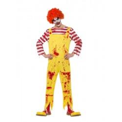 Disfraz asesino hamburguesa adulto
