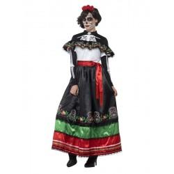 Disfraz catrina mejicana extra para mujer
