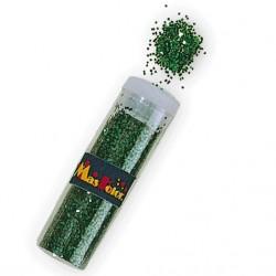 Purpurina verde en polvo en tubo