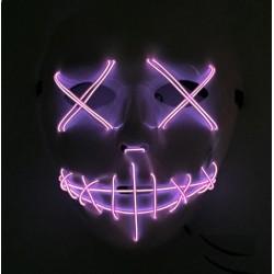 Mascara con luz led morada similar la Purga