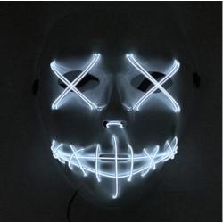 Mascara con luz led blanca azulada similar la Purga