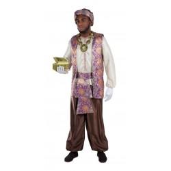 Disfraz Paje real Baltasar lujo adulto talla 54