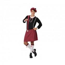 Disfraz escoces falda talla cuadros m l 15263