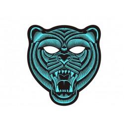 Mascara tigre luz led cambia con la musica