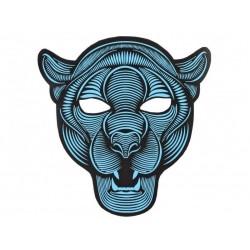 Mascara pantera luz led cambia con la musica