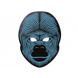 Mascara gorila luz led cambia con la musica