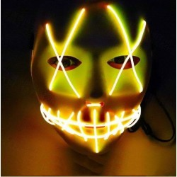 Mascara led amarilla la purga negra