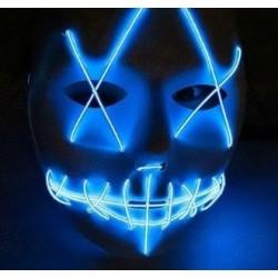 Mascara led azul la purga negra