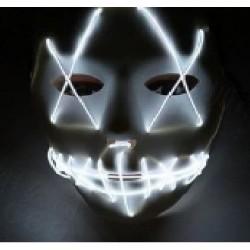 Mascara led blanca la purga negra