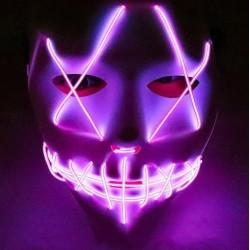 Mascara led morada la purga negra