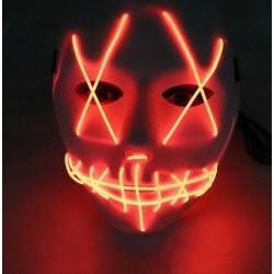 Mascara led naranja la purga negra