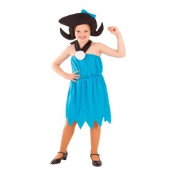 Disfraz nina troglodita azul Betty marmol tallas infantil