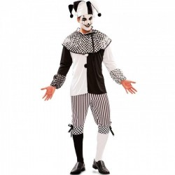 Disfraz arlequin blanco y negro para hombre