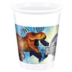 Vasos Jurasic World dinosaurios 8 uds