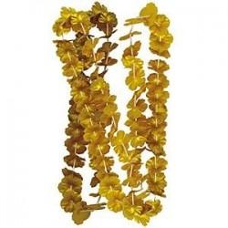 Collar flores oro dorado para cotillon o fiesta