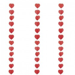 Guirnalda corazones 3 metros san valentin