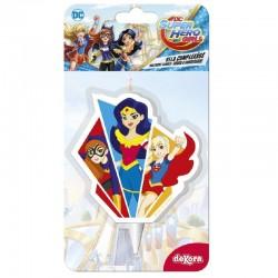 Vela DC Super Hero Girls 75 cm tarta