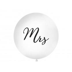 Globo gigante para boda Mrs de 1 metro blanco negro