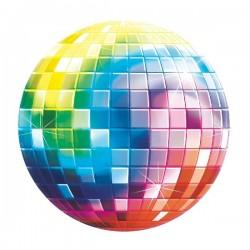 Decoracion para fiesta disco bola 26cm unidad