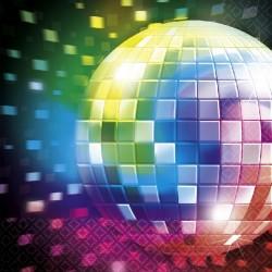 Servilletas fiesta disco anos 70 16 uds de 33x33 cm