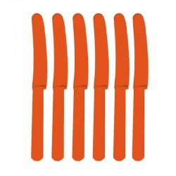 Cuchillos naranjas de plastico 10 unidades