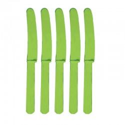 Cuchillos Verde de plastico 10 unidades