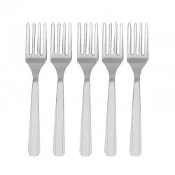 Tenedores plata de plastico 10 unidades