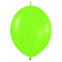 Globo Link O Loon 12 Verde Lima Sempertex 25 uds 30 cm cadena