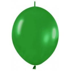 Globo Link O Loon 12 Verde Selva Sempertex 25 uds 30 cm cadena