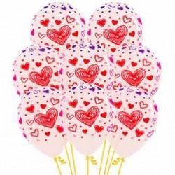 Globos transparentes con corazones 12 uds 30 cm