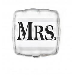 Globo boda Mrs 45 cm para helio o aire