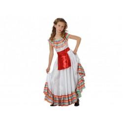 Disfraz de mejicana para nina talla 10 12 anos
