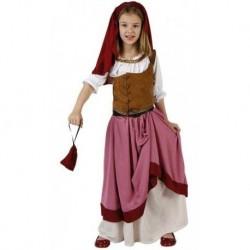Disfraz mesonera medieval para nina