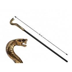 Baston serpiente 90 cm dorado