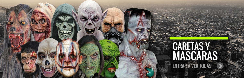 Caretas y mascaras halloween baratas.Caretas de miedo halloween