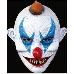CARETA PAYASO MASCARA LATEX JOKER CLOWN DIABOLICO