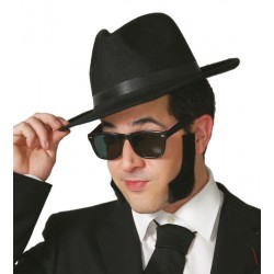 GAFAS BLUES BROTHERS NEGRAS PASTA 16216
