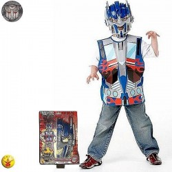 DISFRAZ TRANSFORMER OPTIMUS PRIME CON MASCARA