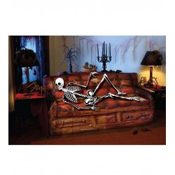 DECORACION PARED HALLOWEEN 76X152 CM ESQUELETO SOF