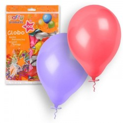 GLOBOS LATEX COLORES SURTIDOS METALICOS 100 UD 23