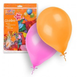GLOBOS LATEX COLORES SURTIDOS FLUOR 100 UND 23 CM