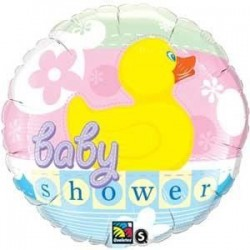 GLOBO FOIL BABY SHOWER PATITO 18 46 CM