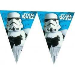 GUIRNALDA STAR WARS TRIANGULAR 23 METROS PLASTICO
