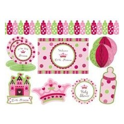 KIT DECORACION NINA BABY SHOWER LITTLE PRINCESS