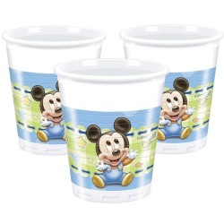 VASOS MICKEY MOUSE BEBE 8 UNID 200 ML