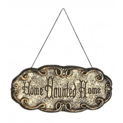 LETRERO HOME HAUNTED DE 45 X 20 CM CASA ENCANTADA