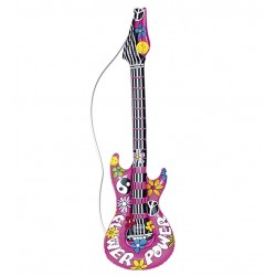 GUITARRA HINCHABLE HIPPIE DE 105 CM
