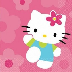 Servilletas hello kitty 33 x 33 cm 16 unidades
